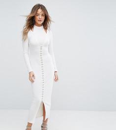 Платье миди в рубчик Lavish Alice - Кремовый