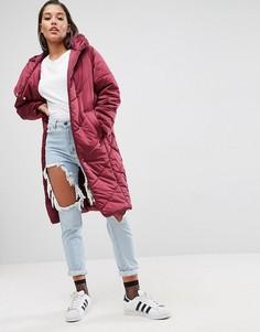 Дутая куртка миди ASOS - Красный