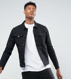 Черная джинсовая куртка скинни ASOS TALL - Черный