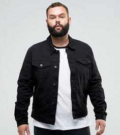 Черная зауженная джинсовая куртка ASOS PLUS - Черный