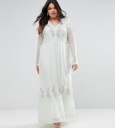 Декорированное платье макси с завязками Frock And Frill Plus - Зеленый