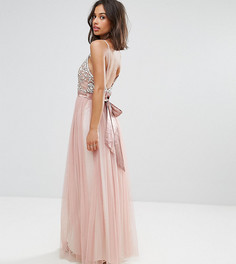 Платье макси с бантом Maya Petite - Розовый