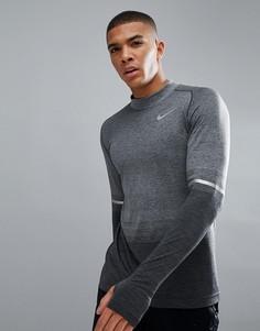 Серый лонгслив Nike Running Dri-FIT 885304-060 - Серый