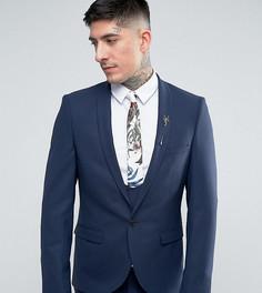 Супероблегающий пиджак Noose & Monkey - Темно-синий
