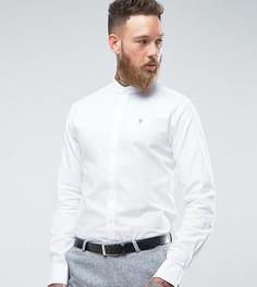 Оксфордская рубашка скинни с пуговицами на воротнике Noose & Monkey - Белый