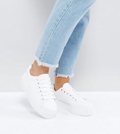Кроссовки для широкой стопы на шнуровке ASOS DAY LIGHT - Белый