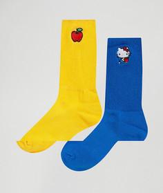 2 пары носков Lazy Oaf Hello Kitty - Мульти