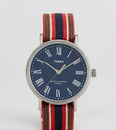 Двусторонние часы с синим циферблатом Timex Fairfield Avenue эксклюзивно для ASOS - Мульти