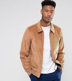 Светло-коричневая вельветовая куртка Харрингтон ASOS TALL - Рыжий