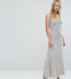 Декорированное платье макси Amelia Rose - Серый