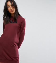 Платье-джемпер в стиле оверсайз с логотипом и карманами Fila Tall - Красный