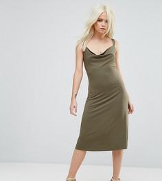 Свободное платье миди ASOS PETITE - Темно-синий