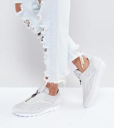 Серые кроссовки на молнии с ацтекским принтом Reebok Classic - Серый