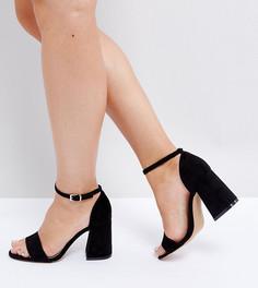 Босоножки для широкой стопы на каблуке ASOS HEARTACHE - Черный