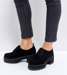 Туфли на каблуке для широкой стопы со шнуровкой ASOS OMEGA - Черный