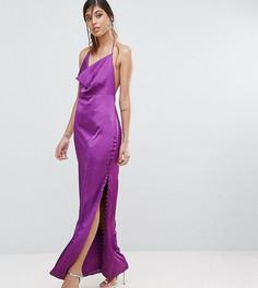 Платье прямого кроя с пуговицами Fame and Partners - Фиолетовый
