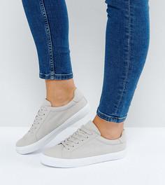 Кроссовки для широкой стопы на шнуровке ASOS DEVLIN - Серый