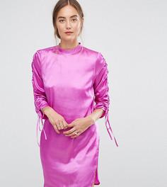 Платье мини А-силуэта с завязками на рукавах ASOS TALL - Розовый