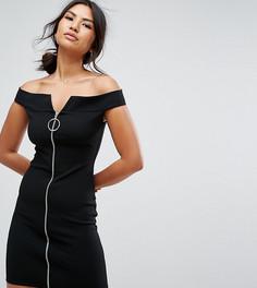 Платье с молнией спереди Missguided - Черный