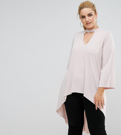 Длинная туника ASOS CURVE - Розовый