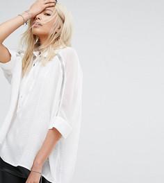 e9e5da8c0f1 Свободная рубашка с отделкой стразами на воротнике и рукавах Religion -  Белый