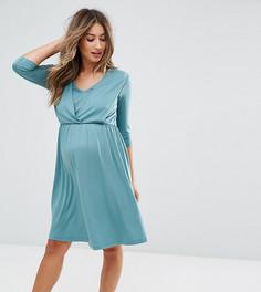 Платье с драпировкой ASOS Maternity NURSING - Зеленый