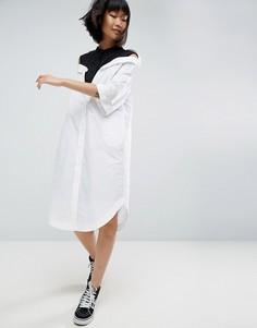 Платье-рубашка с заниженной линией плеч ASOS WHITE - Мульти