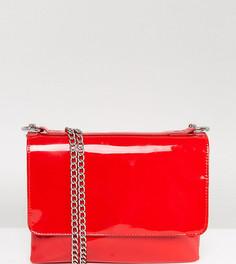Виниловая сумка с цепочкой Monki - Красный