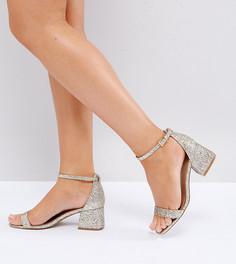 Босоножки на каблуке для широкой стопы ASOS HONEYDEW - Золотой