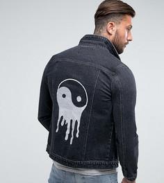 Джинсовая куртка с вышивкой Liquor N Poker - Синий