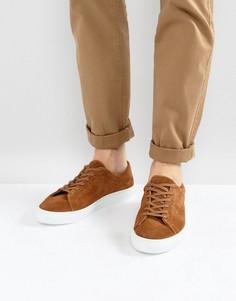 Светло-коричневые замшевые кроссовки Pier One - Рыжий