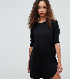 Свободное платье-футболка ASOS PETITE - Черный