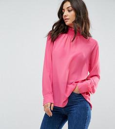 Топ с высоким воротом и пуговицами на спине Glamorous Tall - Розовый