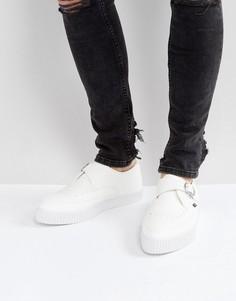 Криперы из веган-кожи с острым носком и пряжками T.U.K - Белый