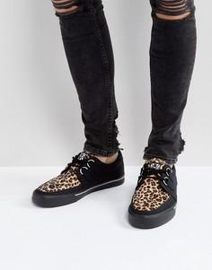 Криперы с леопардовым принтом T.U.K - Черный