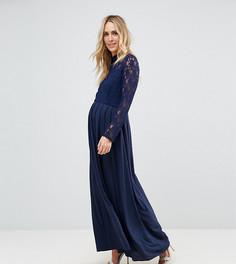 Платье макси с кружевным топом Queen Bee - Темно-синий