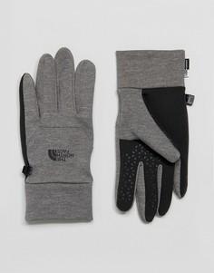 Серые перчатки The North Face Etip - Серый
