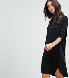 Платье-футболка оверсайз ASOS TALL - Черный