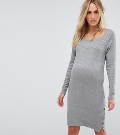 Трикотажное платье для кормления Mamalicious - Серый Mama.Licious