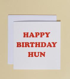 Открытка Happy Birthday Hun эксклюзивно от Central 23 - Мульти