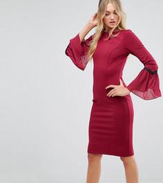 Платье миди с длинными рукавами Paper Dolls Tall - Красный