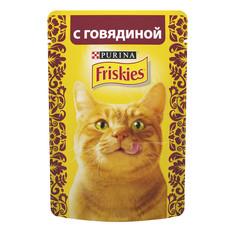 Корм Friskies Adult Кусочки говядины в подливе 85g для кошек 12261826