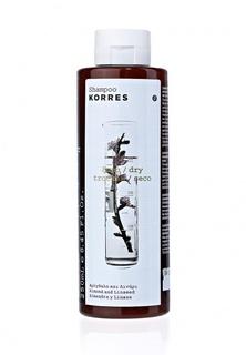 Шампунь Korres для сухих и поврежденных волос с миндалем и семенами льна 250 мл