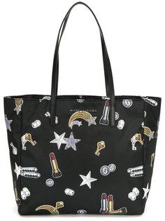 сумка-шоппер с заплатками в виде падающих звезд Marc Jacobs