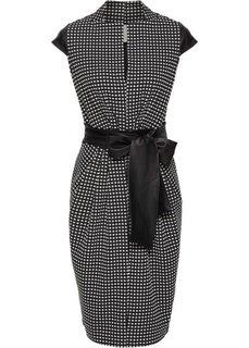 Платье (черный/белый) Bonprix