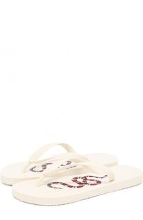 Резиновые шлепанцы Bedlam с принтом Gucci