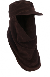 Замшевая шапка-балаклава с козырьком Saint Laurent