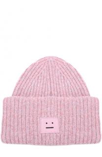 Шерстяная шапка фактурной вязки Acne Studios