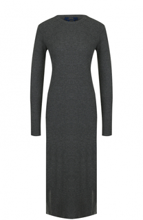 Шерстяное платье-миди с длинным рукавом Polo Ralph Lauren