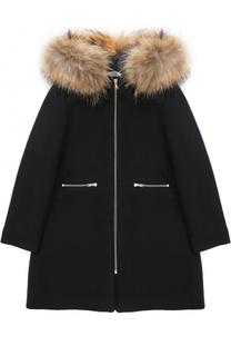 Шерстяное пальто с капюшоном Tartine Et Chocolat